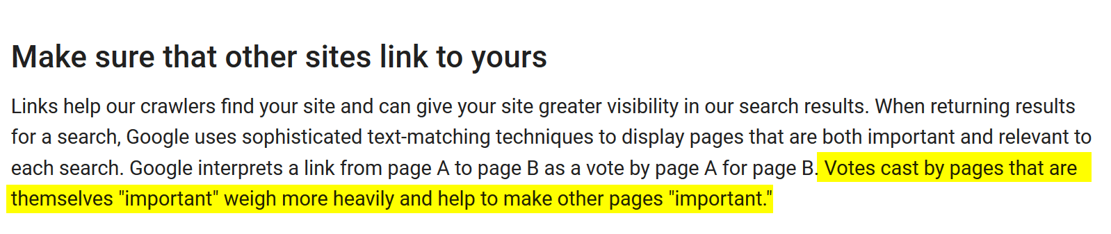 Authority of Linking Page